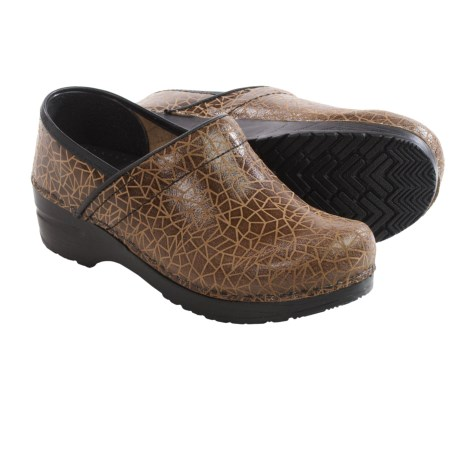Sanita Original Professional Printed Clogs Leather For Women