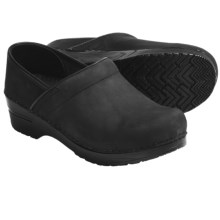 Sanita Professional Clogs - Nubuck (For Women) in Black - Closeouts