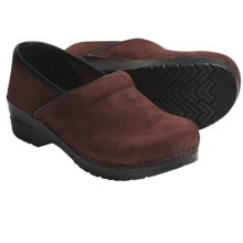 Sanita Professional Clogs - Nubuck (For Women) in Bordeaux - Closeouts