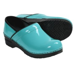 Sanita Professional Clogs - Patent Leather (For Women) in Turquoise