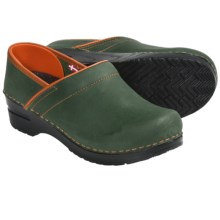 Sanita Professional Electra Clogs - Leather (For Women) in Green - Closeouts