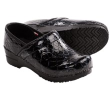 Sanita Professional Gretel Clogs - Patent Leather (For Women) in Black - Closeouts