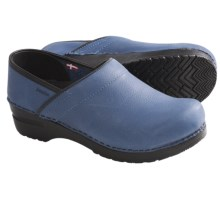 Sanita Professional Lisbeth Clogs - Leather (For Women) in Navy - Closeouts