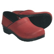 Sanita Professional Lisbeth Clogs - Leather (For Women) in Red - Closeouts