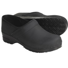 Sanita Professional Oiled Leather Clogs - Closed Back (For Men) in Black - Closeouts