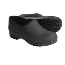 Sanita Professional San Flex Clogs - Oiled Leather (For Women) in Black - Closeouts