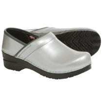 Sanita Signature Metallic Pearl Clogs - Patent Leather (For Women) in Grey - Closeouts