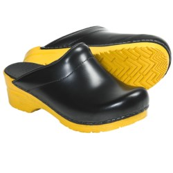 Sanita Sonja Rubik Clogs - Leather (For Women) in Yellow