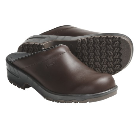Sanita Viktor Aniline Open-Back Clogs - Leather (For Men) in Antique Brown