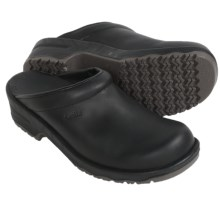 Sanita Viktor Aniline Open-Back Clogs - Leather (For Men) in Black - Closeouts
