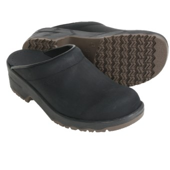 Sanita Viktor Clogs - Leather, Open Back (For Men) in Black
