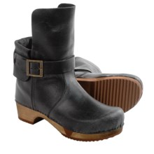 Sanita Wood Lexi Boots - Leather (For Women) in Black - Closeouts