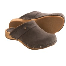 Sanita Wood Megan Flex Clogs - Suede (For Women) in Anthracite - Closeouts