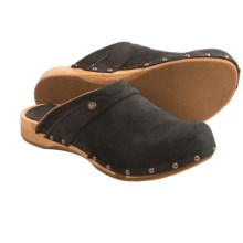 Sanita Wood Megan Flex Clogs - Suede (For Women) in Black - Closeouts