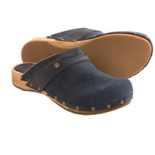 Sanita Wood Megan Flex Clogs - Suede (For Women) in Blue - Closeouts