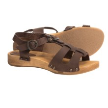 Sanita Wood Olise Low Flex Sandals - Leather (For Women) in Antique Brown - Closeouts