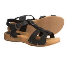 Sanita Wood Olise Low Flex Sandals - Leather (For Women) in Black - Closeouts