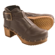 Sanita Wood Owl Ankle Boots (For Women) in Dark Brown - Closeouts