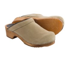 Sanita Wood Twister Oil Clogs - Nubuck (For Women) in Beige - Closeouts