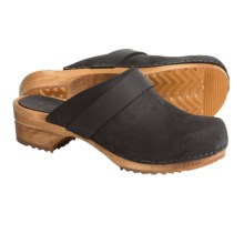Sanita Wood Tybet Oil Clogs - Oiled Suede (For Women) in Black - Closeouts
