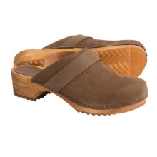 Sanita Wood Tybet Oil Clogs - Oiled Suede (For Women) in Brown - Closeouts