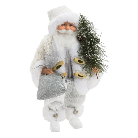 "Santa's Workshop 12"" Collectible Santa in Winter White"