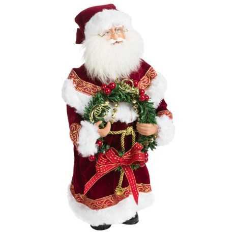 "Santa's Workshop 15"" Collectible Santa in Red Victorian"