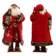 "Santa's Workshop Collectible Santa - 35"" in Reindeer Bells Santa - Closeouts"
