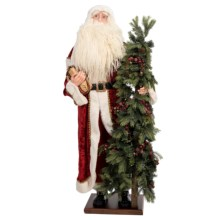 "Santa's Workshop Collectible Santa - 60"" in Red Crushed Velvet - Closeouts"