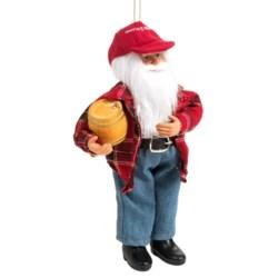 "Santa's Workshop Moldable Santa Ornament - 9"" in Cowboy Delivery"