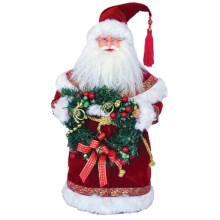 "Santa's Workshop Santa Figurine - 15"" in Victorian Wreath - Closeouts"