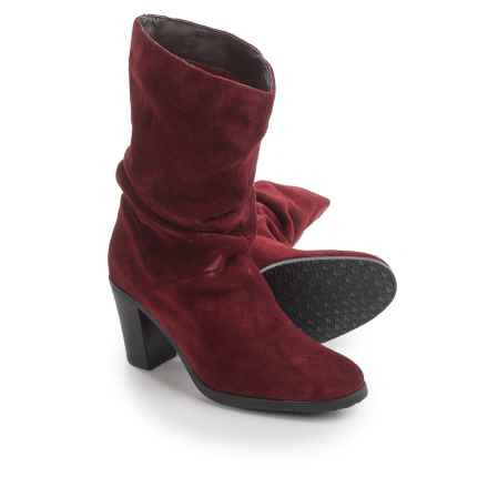 Santana Canada Carly Suede Boots - Fleece Lined (For Women) in Wine - Closeouts