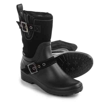 Santana Canada Cayley Rain Boots - Suede (For Women) in Black - Closeouts
