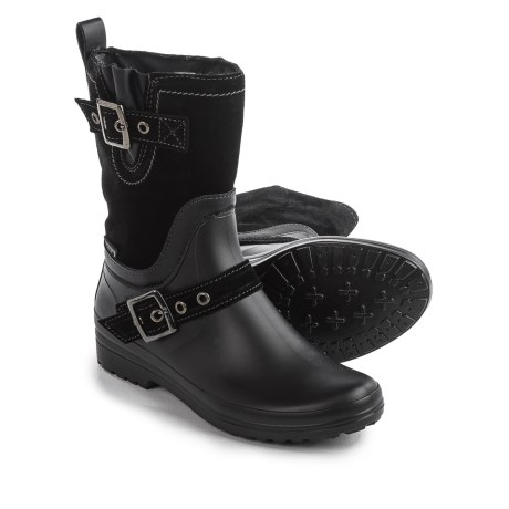 Santana Canada Cayley Rain Boots - Suede (For Women) in Black