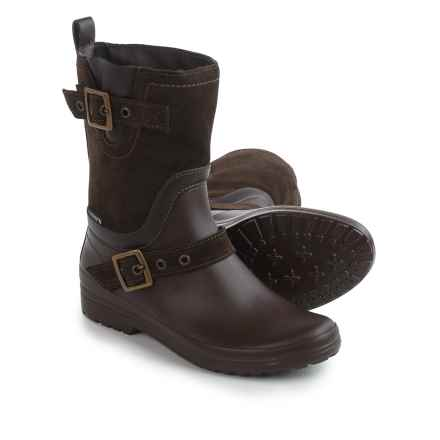 Santana Canada Cayley Rain Boots - Suede (For Women) in Brown - Closeouts