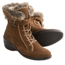 Santana Canada Emilia Boots - Waterproof, Suede (For Women) in Tan - Closeouts
