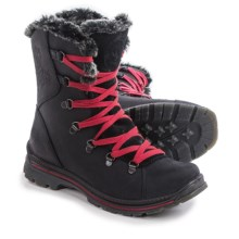 Santana Canada Massima Leather Snow Boots - Waterproof (For Women) in Black - Closeouts