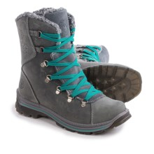 Santana Canada Massima Leather Snow Boots - Waterproof (For Women) in Grey - Closeouts