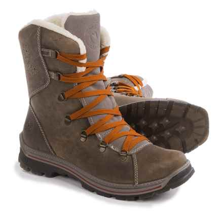 Santana Canada Massima Leather Snow Boots - Waterproof (For Women) in Stone - Closeouts