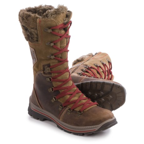 Santana Canada Melita Leather Snow Boots - Waterproof, Insulated (For Women) in Brown