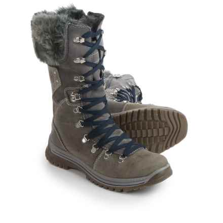 Santana Canada Melita Leather Snow Boots - Waterproof, Insulated (For Women) in Grey - Closeouts