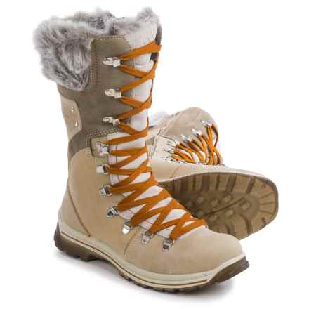 Santana Canada Melita Leather Snow Boots - Waterproof, Insulated (For Women) in Ice - Closeouts