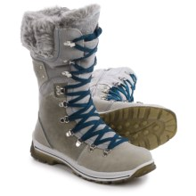 Santana Canada Melita Leather Snow Boots - Waterproof, Insulated (For Women) in Steel - Closeouts
