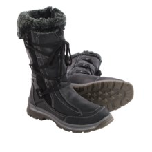 Santana Canada Mendoza Leather Boots - Waterproof (For Women) in Black - Closeouts