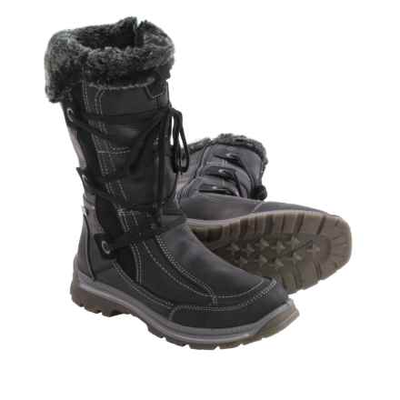 Santana Canada Mendoza Leather Snow Boots - Waterproof (For Women) in Black - Closeouts
