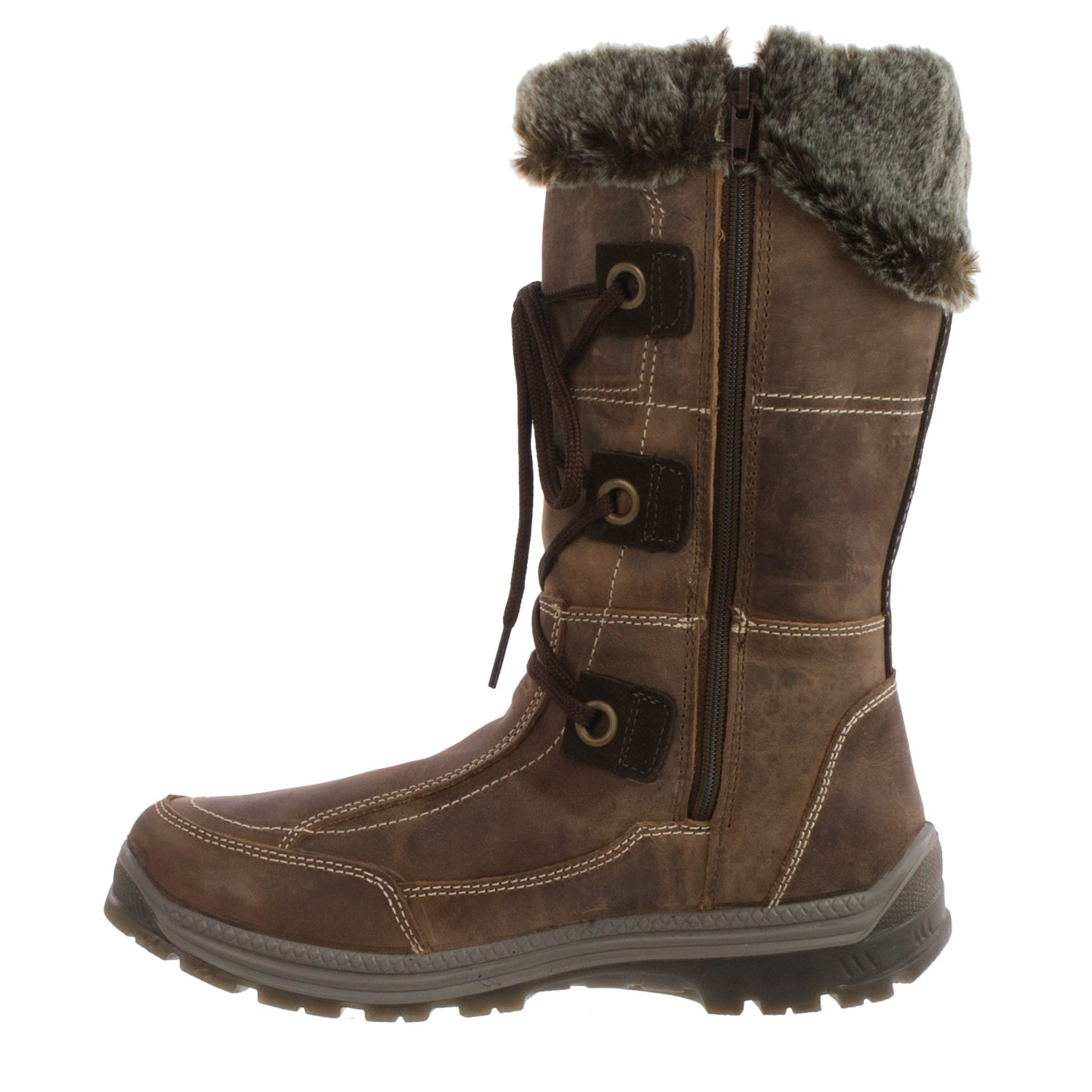 Santana Canada Mendoza Leather Snow Boots (For Women) - Save 89%