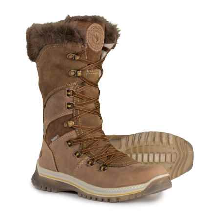 Santana Canada Morella Tall Winter Boots - Waterproof, Insulated, Leather (For Women) in Brown