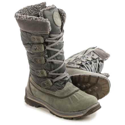 Santana Canada Mulino Snow Boots - Waterproof, Insulated (For Women) in Charcoal - Closeouts