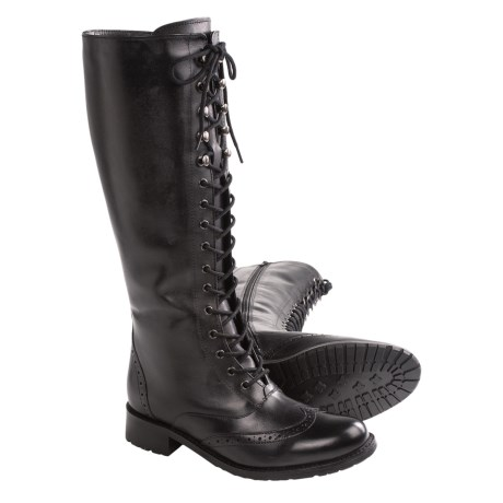 Santana Canada Patricia Leather Boots (For Women) in Black