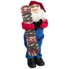 "Santa's Workshop 18"" Collectible Santa in Snowboard Santa - Closeouts"